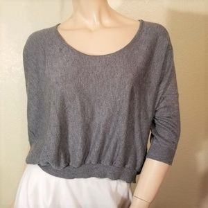 Sparkle & Fade M L Cropped Scoop Neck Sweater